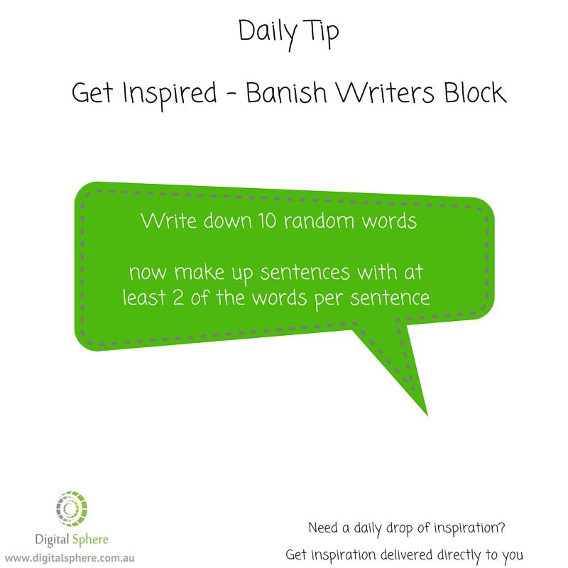 Writers tip from Digital Sphere