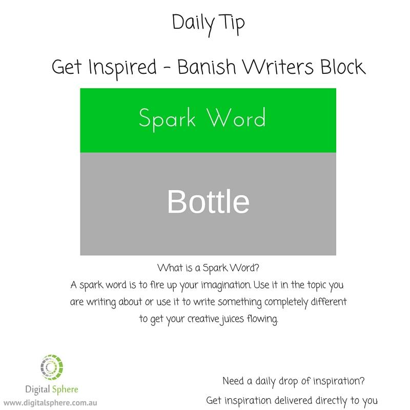 Here is a sparkword to help you with your writing