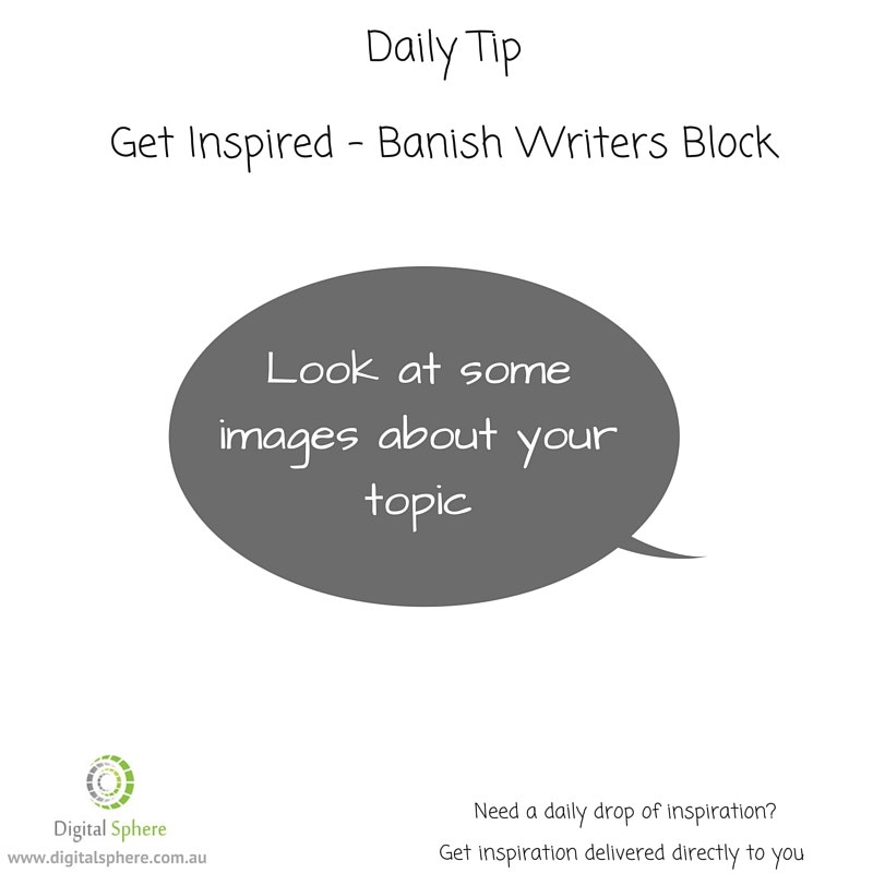 a daily writing tip