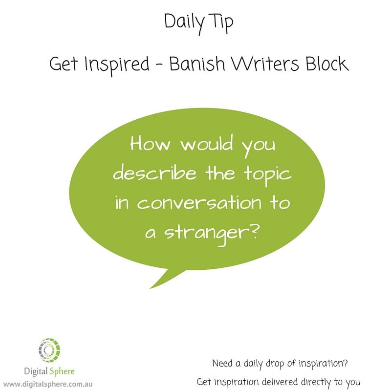 daily tips for writers