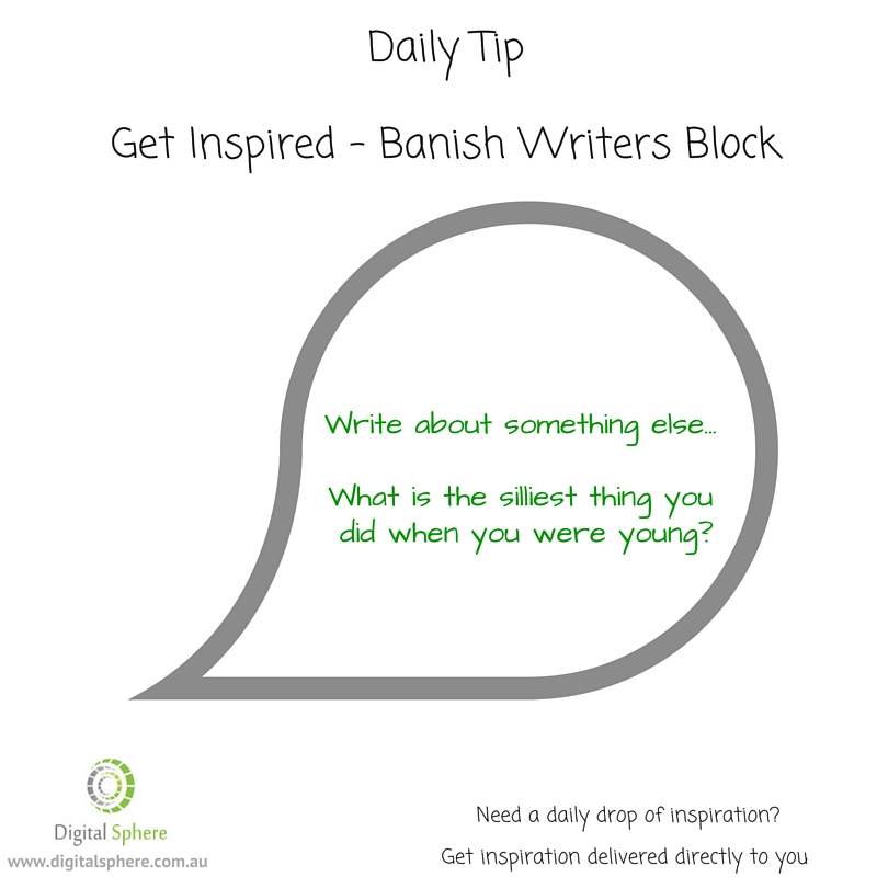 Daily writing tip