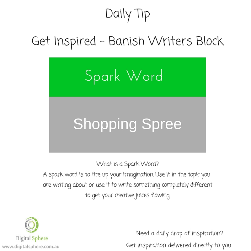 BAnish writers block with our daily writers tip