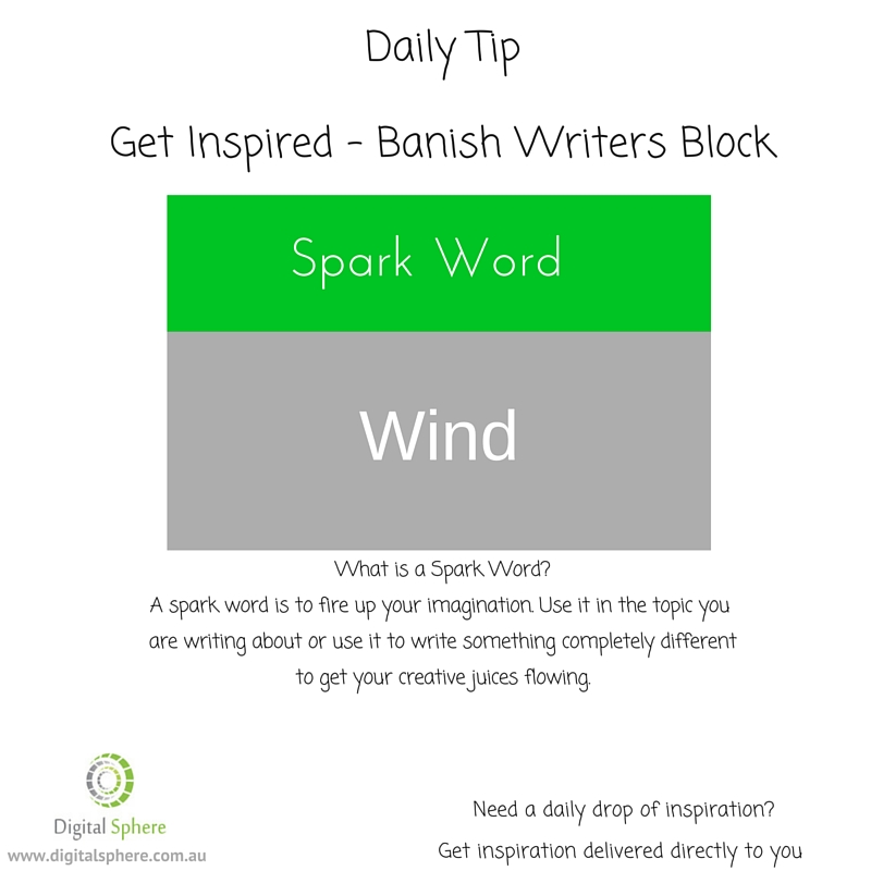 A sparkword to help you get writing