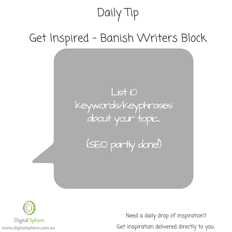 A daily writing tip to help you with your content marketing