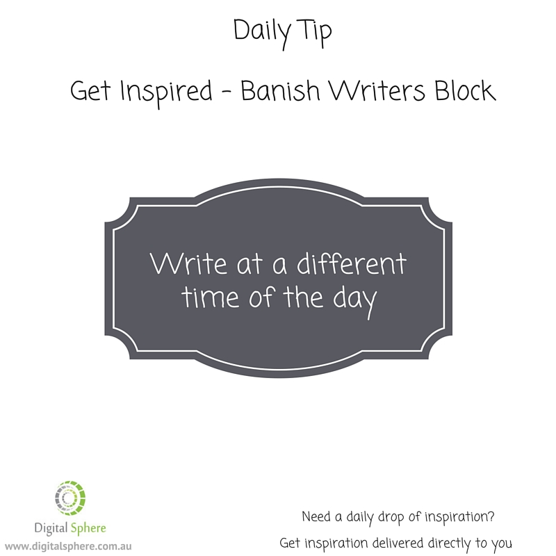Daily tip for writers